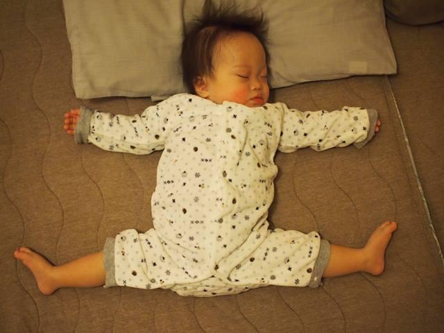 ダウン症,ブログ,柔らかい,寝相,土