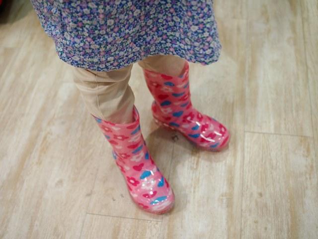 お姉ちゃん,娘,デート,キャナル,梅雨,グッズ,長靴,傘,ダウン症,ブログ