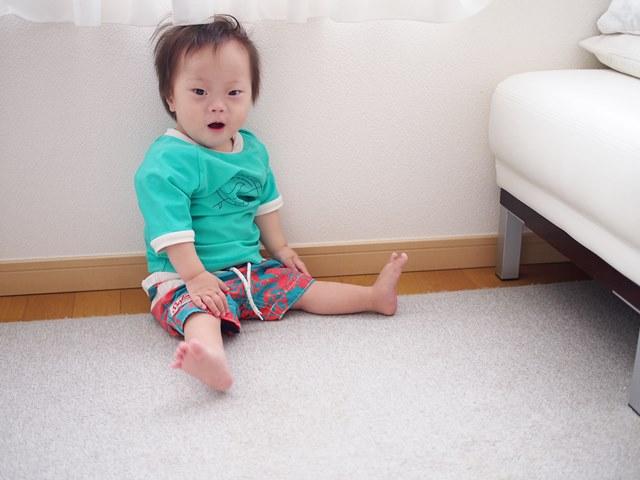 夏,水着,1歳,5歳,ヒロシです,ダウン症,ブログ