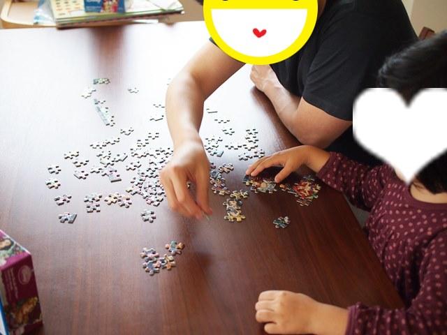 パズル,集中力,知育,子ども,子供,ダウン症,ブログ,アンパンマン,ディズニー,108ピース