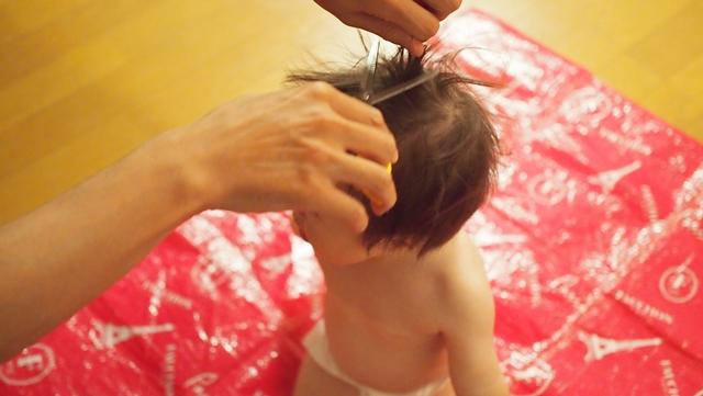 ムツオ,アップ君,散髪,ソフトモヒカン,1歳児,2歳児,ダウン症