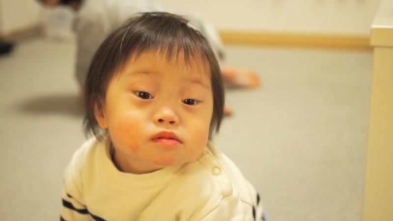 2歳,散髪,断髪式,ダウン症,ブログ,方法,ムツオ,アップ,瓜二つ