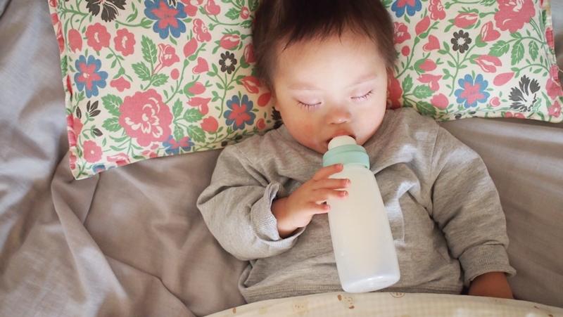 モカちゃん,来宅,もちゃの日記,ダウン症,ブログ,寝顔