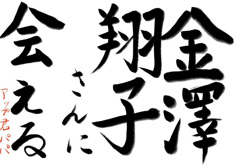 金澤翔子,会える,ダウン症,書家,エルガーラ,揮毫,萬松山,承天寺