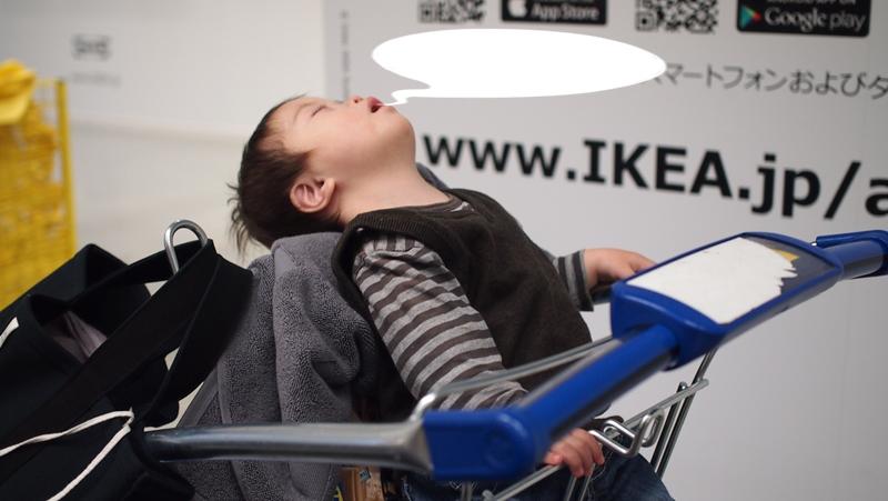 ダウン症,ブログ,IKEA,平日,ガラガラ,積み木