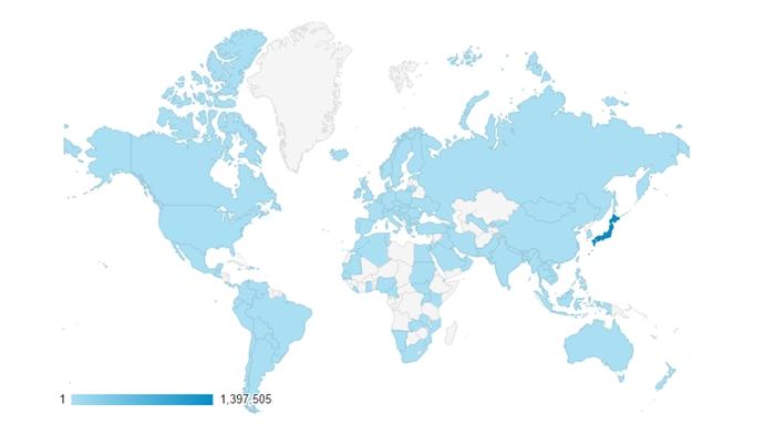 アクセス世界地図